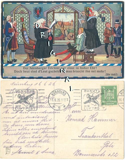 DER NÜRNBERGER TRICHTER ... 1926 gelaufen - 8,00 Eur