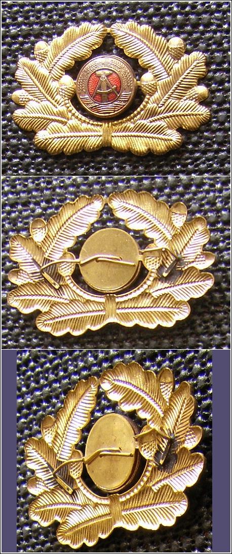 Goldfarbene KOKARDE aus Metall mit Eichenlaub für Mütze - 12,00 Eur