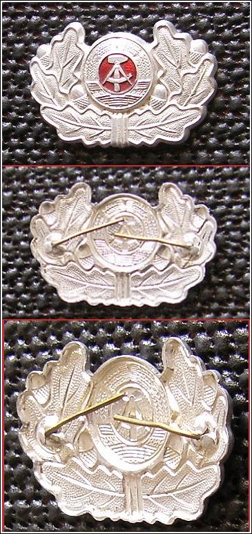 Silberfarbene KOKARDE aus Metall mit Eichenlaub für Mütze - 12,00 Eur