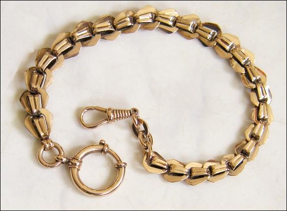 Feine, alte TASCHENUHRENKETTE: vergoldet, ca. 1920 - 35,00 Eur