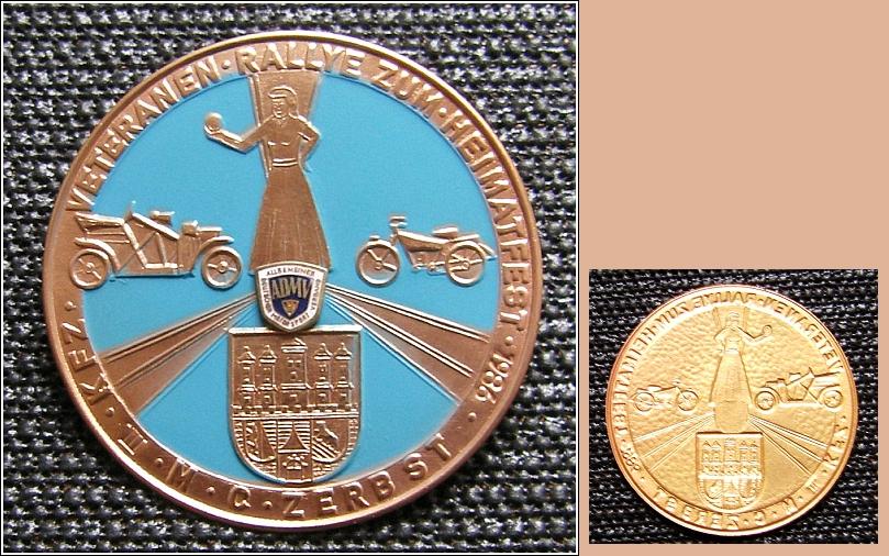 Große ADMV-Plakette: 1986 Zerbst (Sachsen-Anhalt) - 13,00 Eur