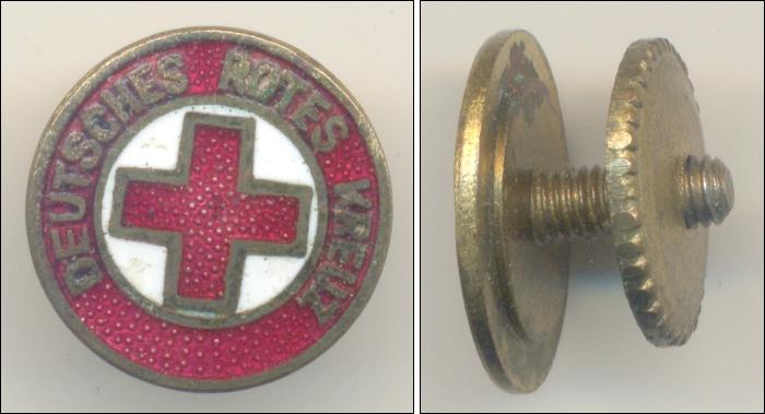 Abzeichen DRK! Fürs Knopfloch!: DEUTSCHES ROTES KREUZ: Ø H 1,4 cm - 28,00 Eur