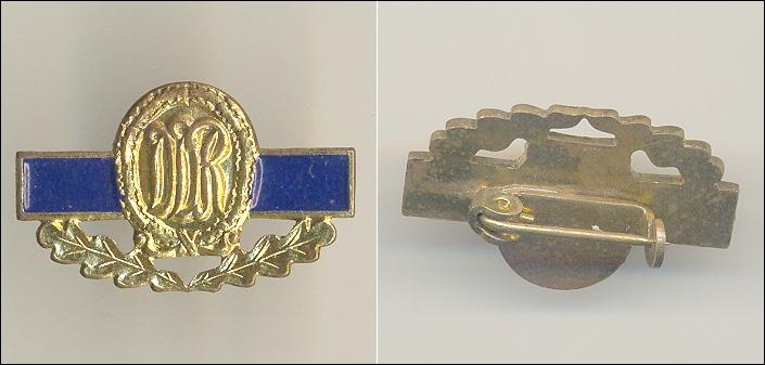 Abzeichen, Miniatur: DDR mit Eichenblättern / B: 2,63 cm; H: 1,62 cm - 12,00 Eur