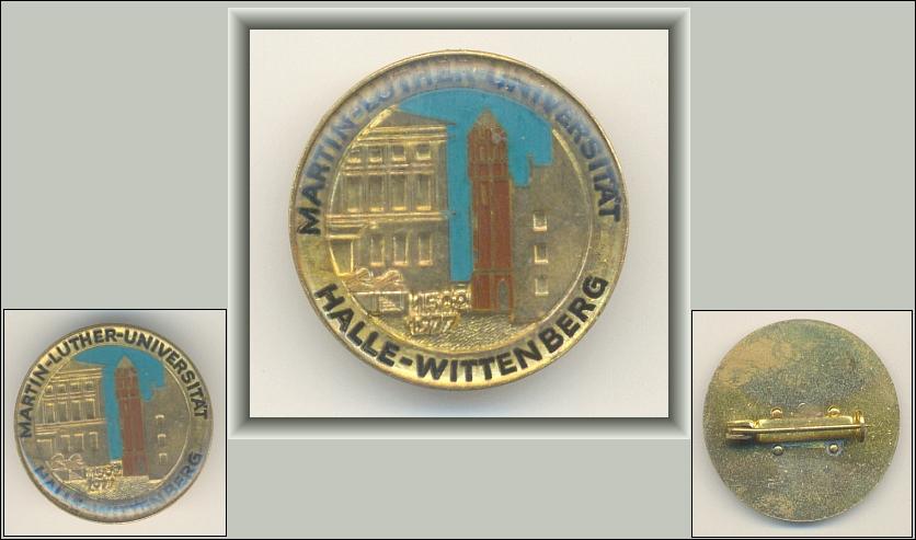 Abzeichen: Martin-Luther-Universität Halle-Wittenberg 1502-1977 - 22,00 Eur