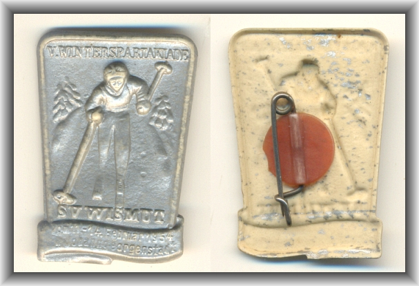 Abzeichen: V. WINTERSPARTAKIADE SV Wismut 1954 - 15,00 Eur