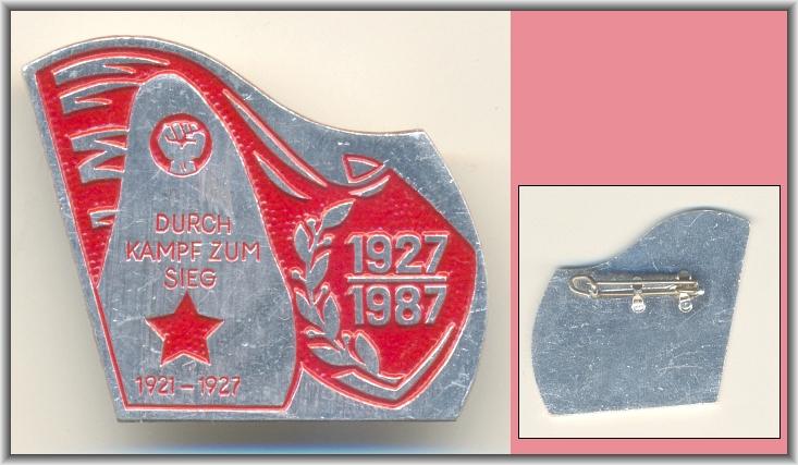 DDR-Abzeichen: DURCH KAMPF ZUM SIEG 1927-1987 - 12,00 Eur