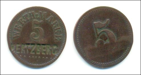 Uralte Wertmarke: WERTH-MARKE HERTZBERG - 12,00 Eur