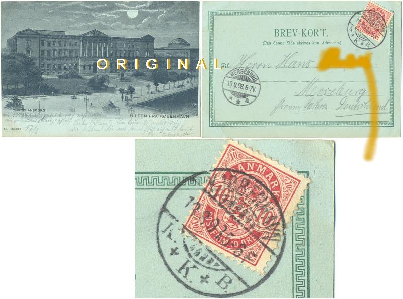 Ansichtskarte: CHRISTIANSBORG                 Kopenhagen; 1898 gelaufen - 14,00 Eur