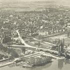 WORMS, Fotokarte:                                                   vom Flugzeug aus, 1936                                                   gelaufen - 8,00 EUR