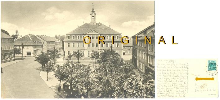 AK, Fotokarte: OHRDRUF: Markt mit Rathaus, 1959 gelaufen - 7,00 Eur