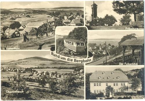 Fotokarte: BERGBAHN Oberweißbach, Lichtenhain (Thür.) 1968 - 4,00 Eur