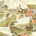 WEIDA, LITHO: 4                                                   Ansichten: 1896                                                   BAHNPOST Zug 49 -                                                   25,00 EUR