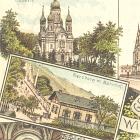 WIESBADEN: LITHO:                                                   6 Ansichten; Ottmar                                                   Zieher, 1896(!)                                                   gelaufen - 18,00 EUR