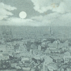 BONN: Panorama bei Mondschein;                                   1898 gelaufen - 15,00 EUR