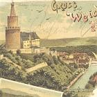 WEIDA                                                   (Thür.) LITHO: 4                                                   Ansichten; 1898 -                                                   18,00 EUR