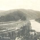 ZSCHOPAU in Sachsen:                                             Fotokarte: Blick von der                                             Kanzel zur Finkenburg;                                             Güterwagen; vor 1931 -                                             8,00 EUR