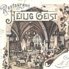 LITHO: MAINZ Restaurant HEILIG                                   GEIST; 1896 gelaufen - 12,00 EUR