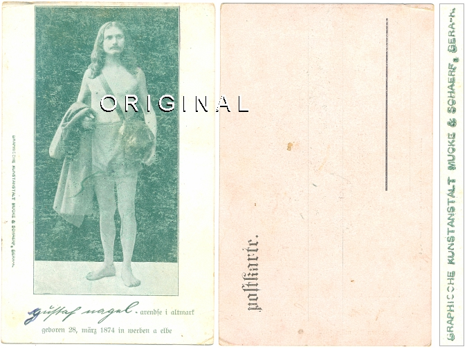Ansichtskarte: GUSTAF NAGEL; ca. 1910 - 9,00 Eur