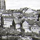 Fotokarte:                                                   WETZLAR (Hessen)                                                   Lahnbrücke,                                                   Häuser, Dom, 1969                                                   gelaufen - 3,00 Eur