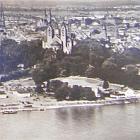 SPEYER am Rhein, Glanzfotokarte:                                   Luftaufnahme, 1966 gel. - 4,00 EUR