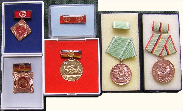 6 verschiedene DDR-Abzeichen & -Orden - 20,00 EUR